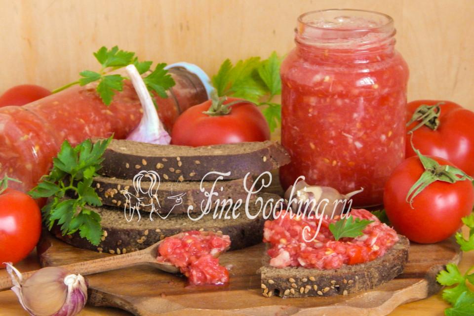 Хреновина с помидорами на зиму