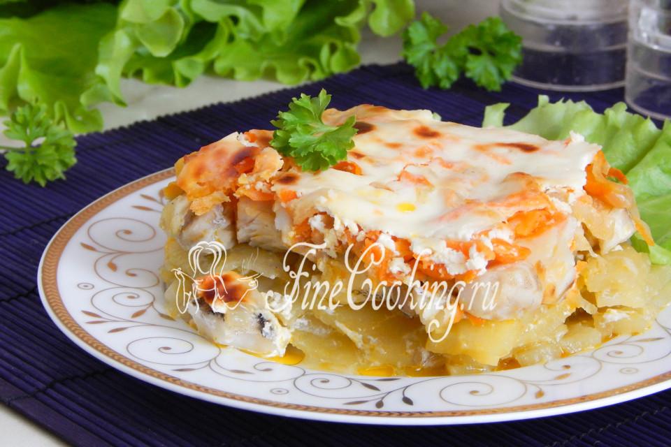 Картофельная запеканка с рыбой пошаговый рецепт