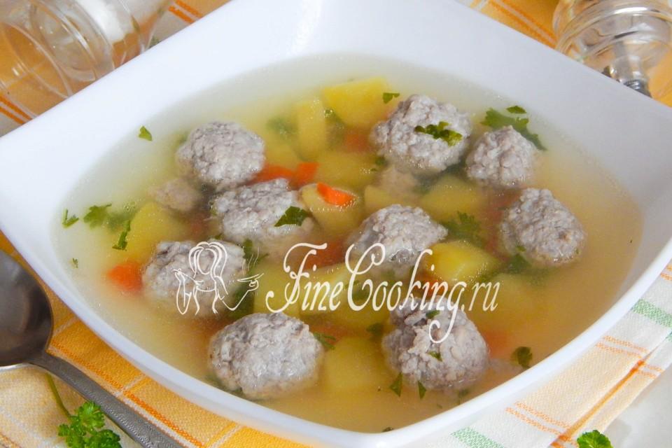 картофельный суп с перцем с фрикадельками рецепт