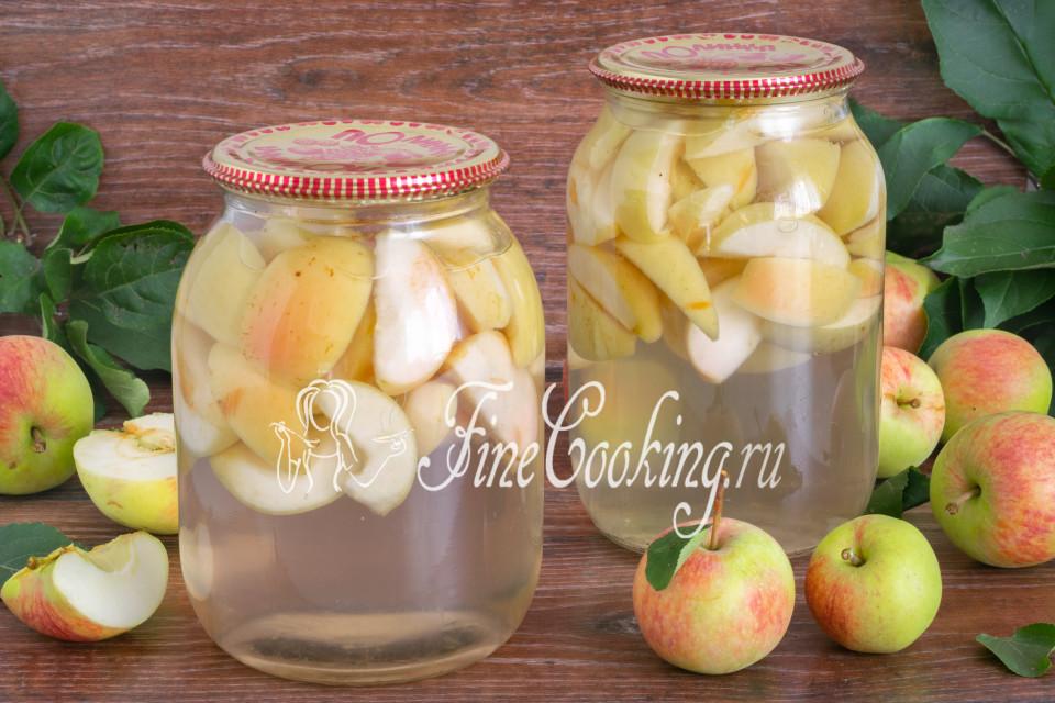 Как закрыть компот из яблок на зиму