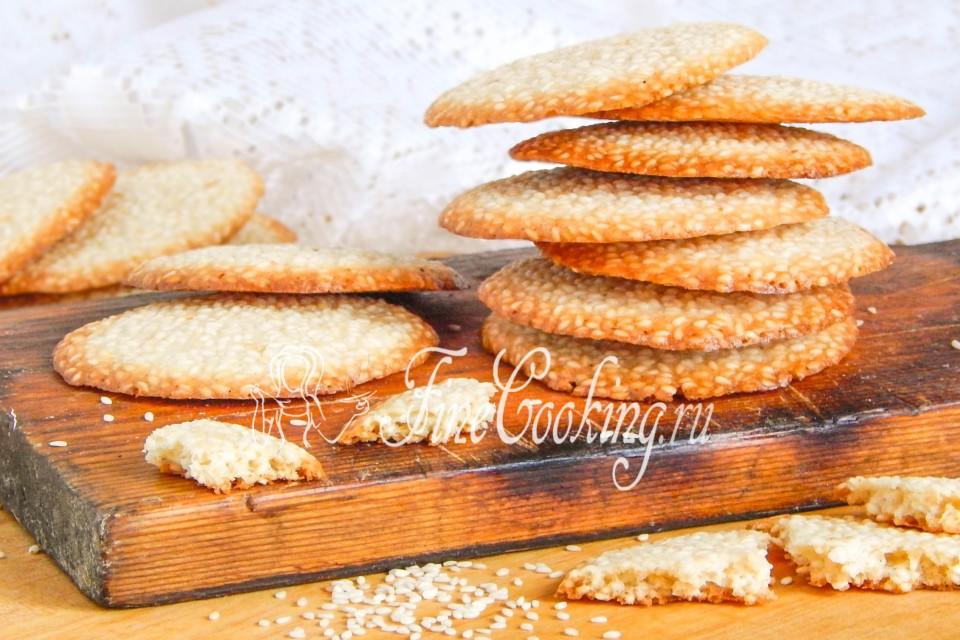 кунжутное печенье рецепт с фото пошагово в духовке