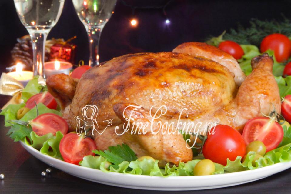 Рецепт целая курица с гречкой