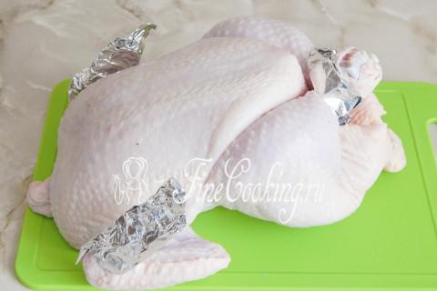 Курица на соли в духовке. Шаг 3
