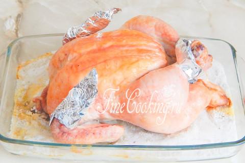 Курица на соли в духовке. Шаг 6