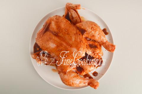 Курица в рукаве в духовке. Шаг 6