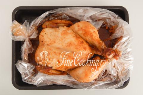 Курица в рукаве в духовке. Шаг 10
