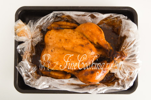 Курица в рукаве в духовке. Шаг 11