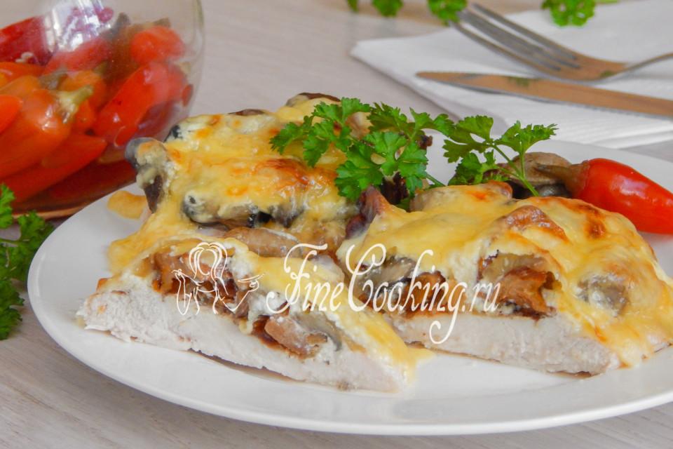 Отбивная куриная с грибами фото рецепт пошаговый
