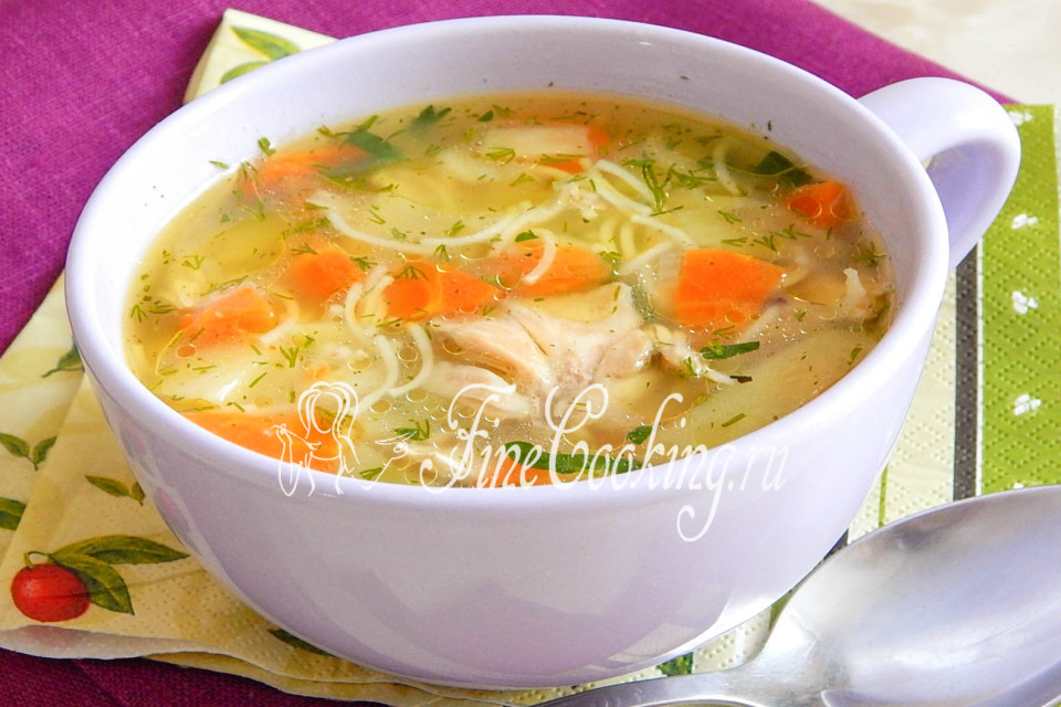 куриный суп рецепт с фото пошагово с картофелем
