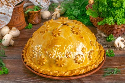 Вкусно? Очень! Такой пирог станет настоящим украшением праздничного стола, а гости навсегда запомнят это щедрое угощение