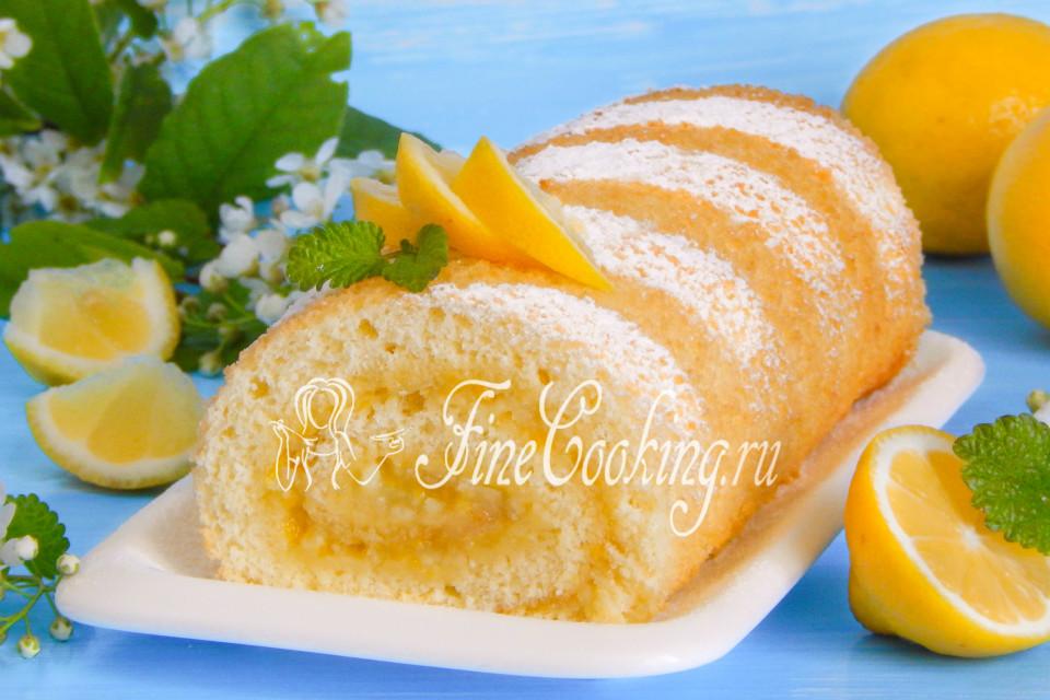 рулет с лимоном рецепт