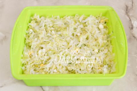 Наливной пирог с капустой. Шаг 11