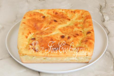 Наливной пирог с капустой. Шаг 14