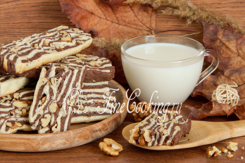 рецепт песочного печенья с орехами