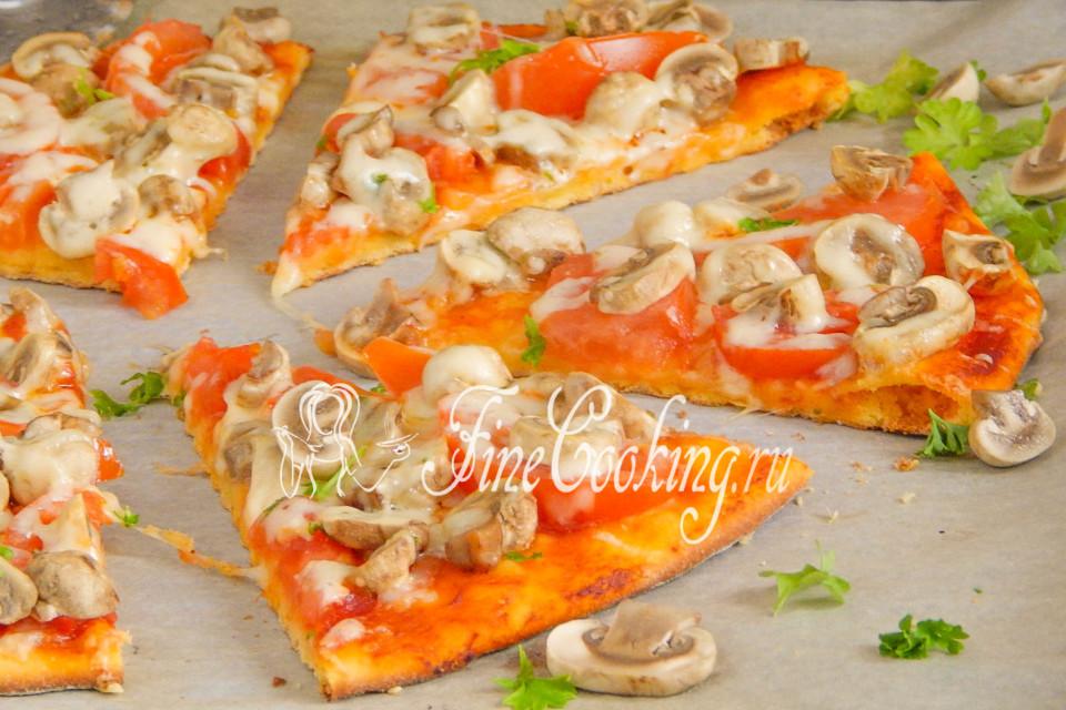 пицца с консервированными шампиньонами рецепт
