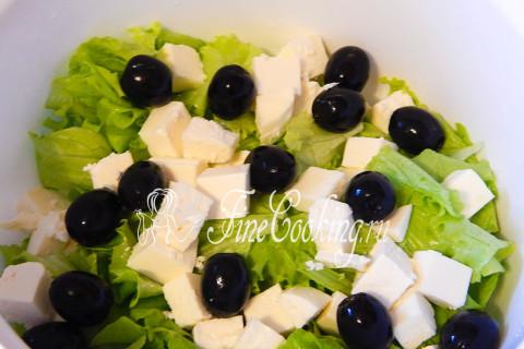 Салат греческий с брынзой. Шаг 4