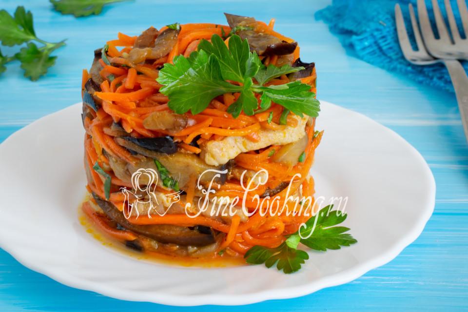 Салат из баклажанов и моркови по-корейски