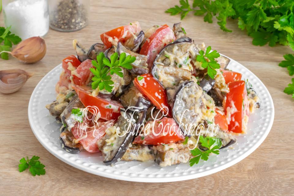 Салат из помидоров, баклажанов и сыра - рецепт пошаговый с фото
