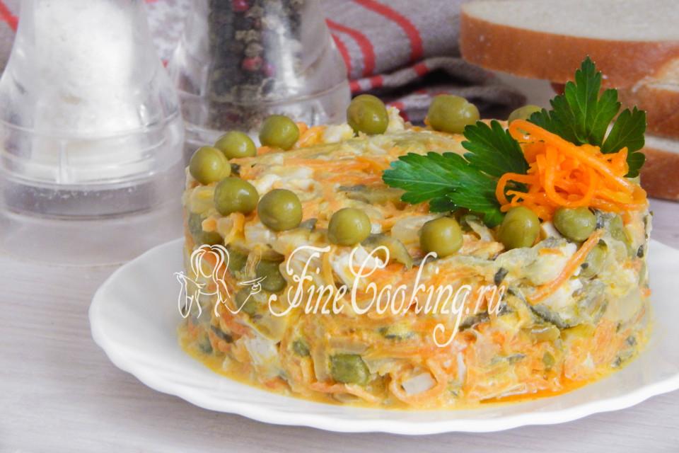 салат из курицы и соленых огурцов фото рецепт