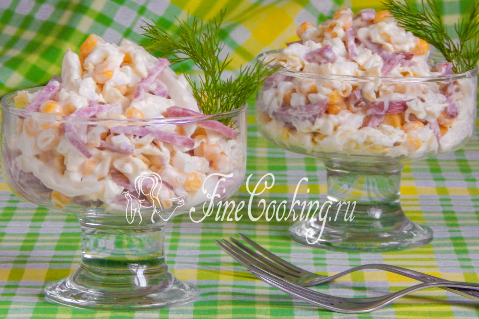 салат с капустой и копченой колбасой рецепт с фото