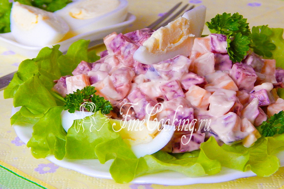 Салат с селедкой и свеклой