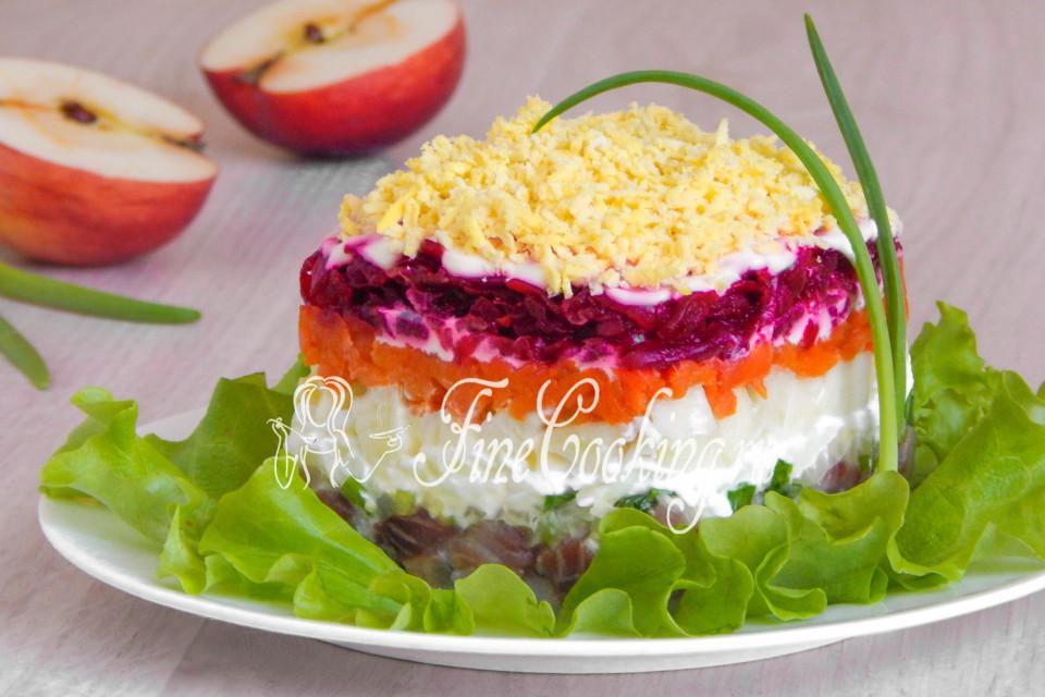 Сельдь под шубой с сыром рецепт слои очень вкусный 6