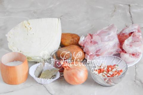 Щи из свежей капусты с курицей. Шаг 1