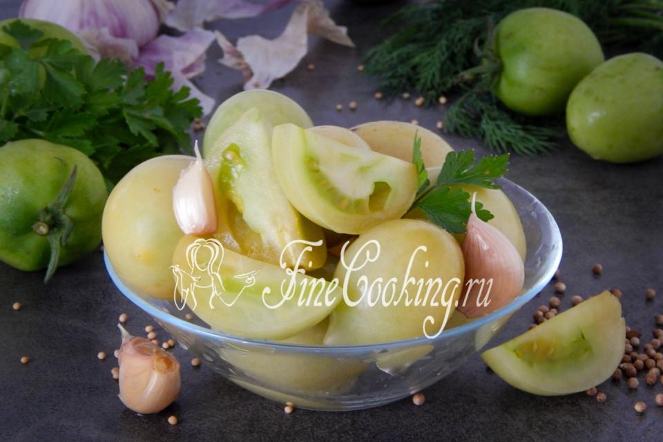 зеленые помидоры кислые на зиму рецепты с фото