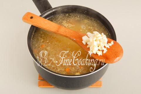 Суп с крапивой и яйцом. Шаг 11