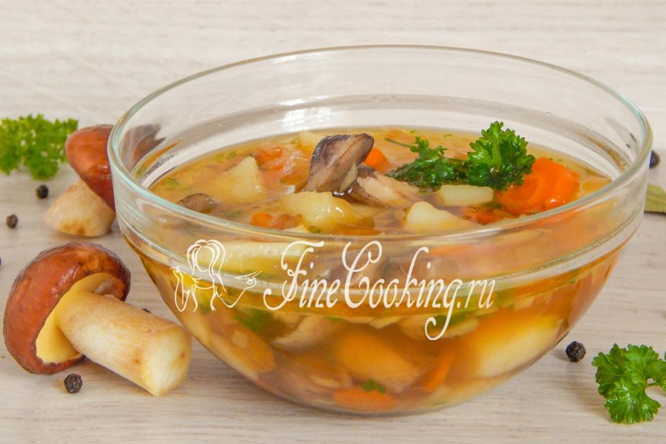 суп из маринованных маслят рецепт с фото