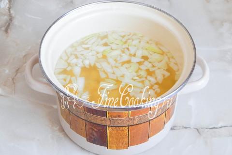 Сырный суп-пюре с гренками. Шаг 3