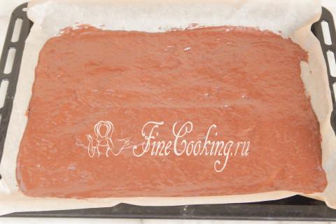 Торт Рождественское полено. Шаг 8