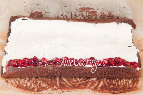 Торт Рождественское полено. Шаг 19