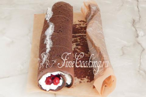 Торт Рождественское полено. Шаг 20