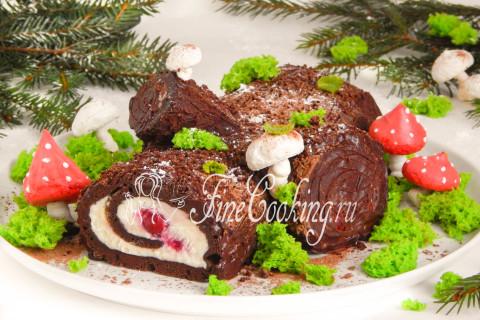 Торт Рождественское полено. Шаг 38