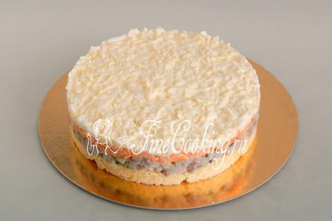 Торт-салат Селедка под шубой. Шаг 18