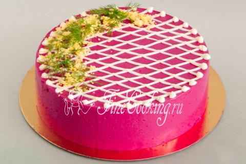 Торт-салат Селедка под шубой. Шаг 22