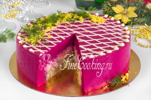 Торт-салат Селедка под шубой. Шаг 23