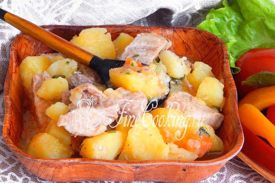 Картошка и мясо в мультиварке сатурн