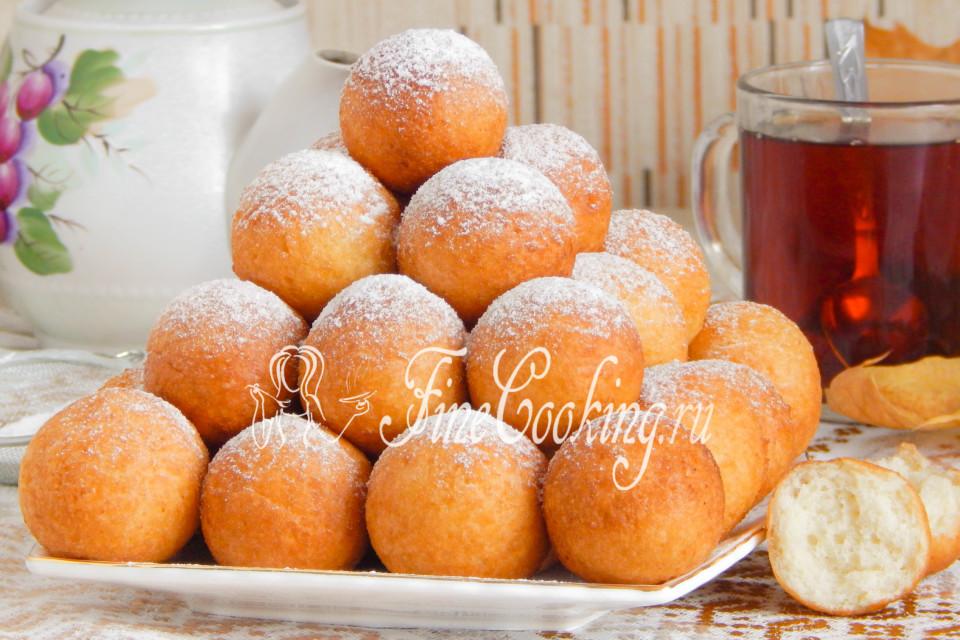 творожные пончики в масле рецепт