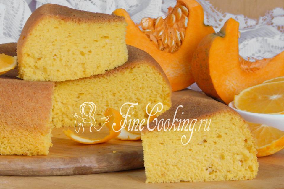 бисквит из тыквы рецепт с фото