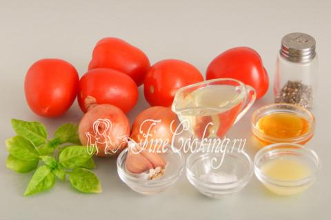 Закуска из помидоров с луком. Шаг 1