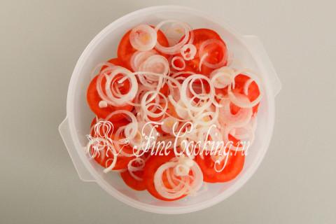 Закуска из помидоров с луком. Шаг 7