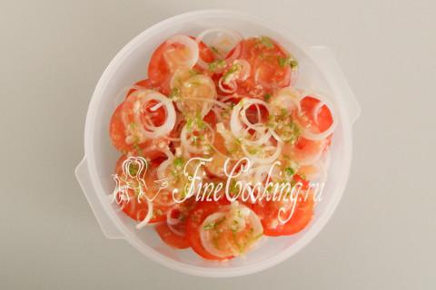 Закуска из помидоров с луком. Шаг 8