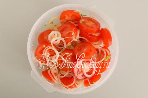 Закуска из помидоров с луком. Шаг 10