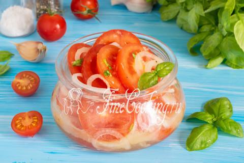 Закуска из помидоров с луком. Шаг 11