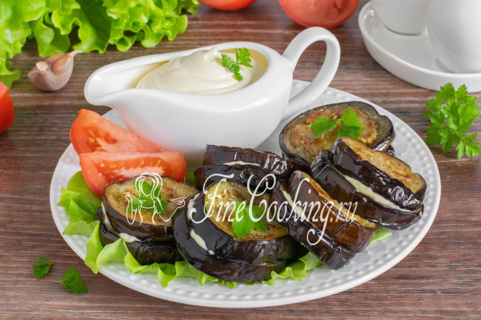 Баклажаны жареные с чесноком на сковороде - рецепт пошаговый с фото